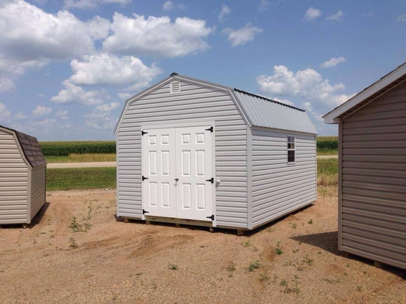 Vinyl Storage Sheds High Barn Prefab Sheds With Lots Of