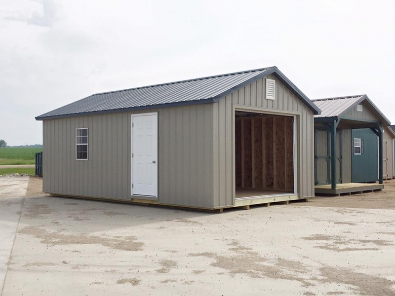 Ranch style metal sheds high quality storage buildings w for Aluminum sheds for sale