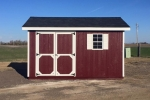 8x12 Wooden Shed with Red Paint