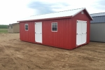 Red Painted Wooden Shed 10x20
