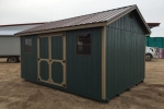 Dark Green 10x16 Wooden Shed in SD