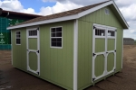 Sage Green 10x18 Wooden Shed
