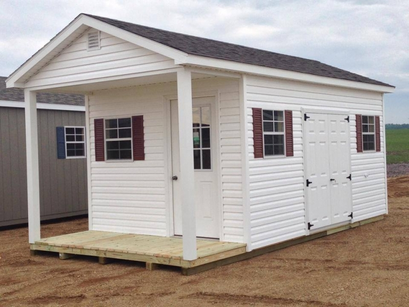 Vinyl Shed Pretty Ranch Style Vinyl Sided Sheds For