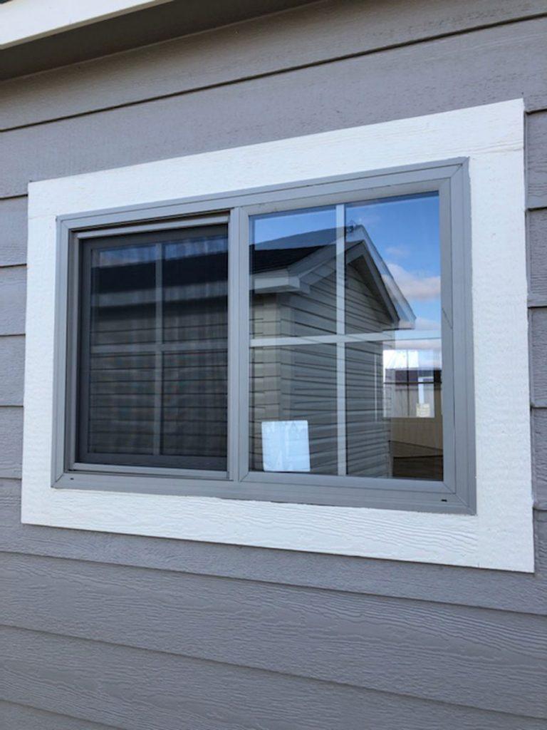 Insulated clay slider window