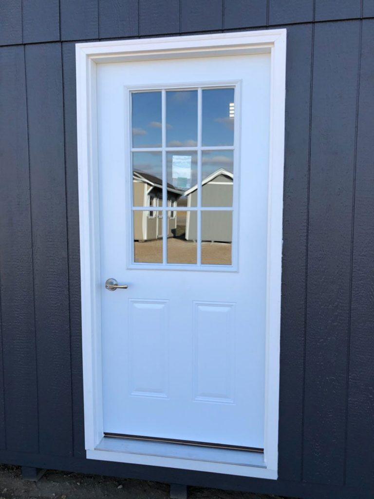 Prehung door knob w forever frame