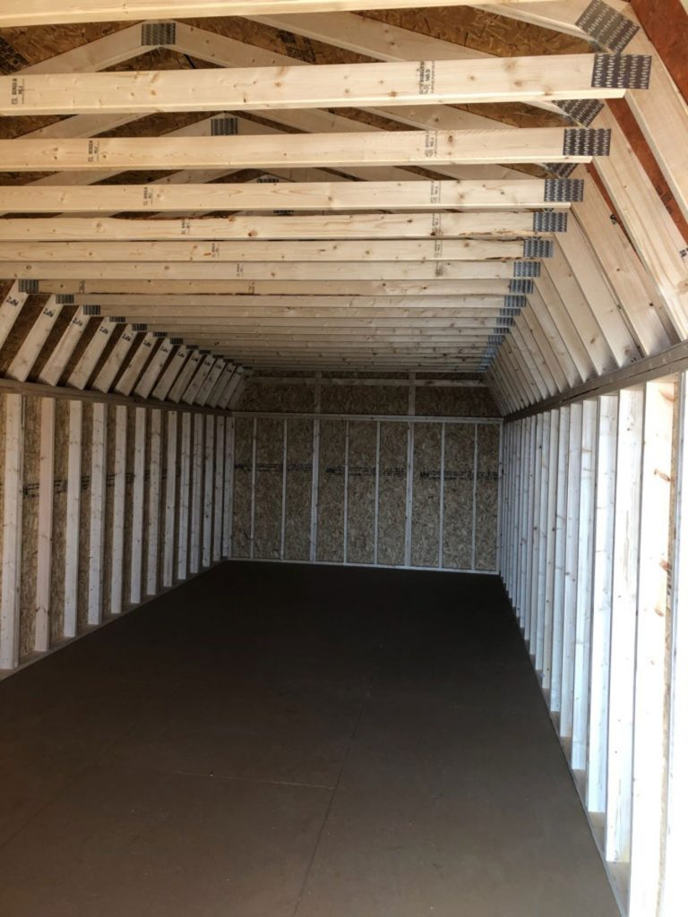 Rafters on 12 ft wide high barn without loft