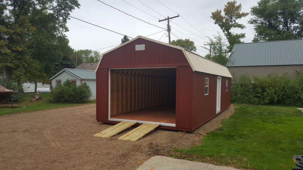 Wood ramps for garage door