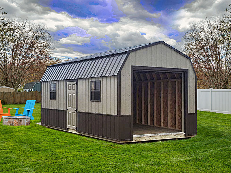 Prefab shed with metal siding for sale in north dakota