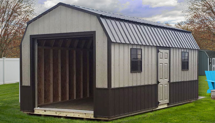 Metal barn style garages for sale
