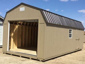 Wooden garages in barn style