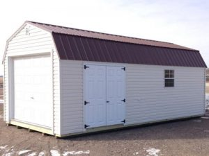 Vinyl barn style garages for cars