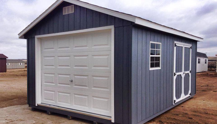 Wooden storage garage in nd