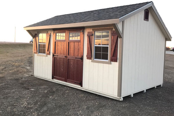 Home storage building saltbox sheds