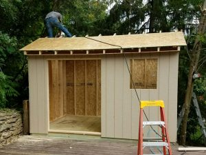 Build your own shed onsite
