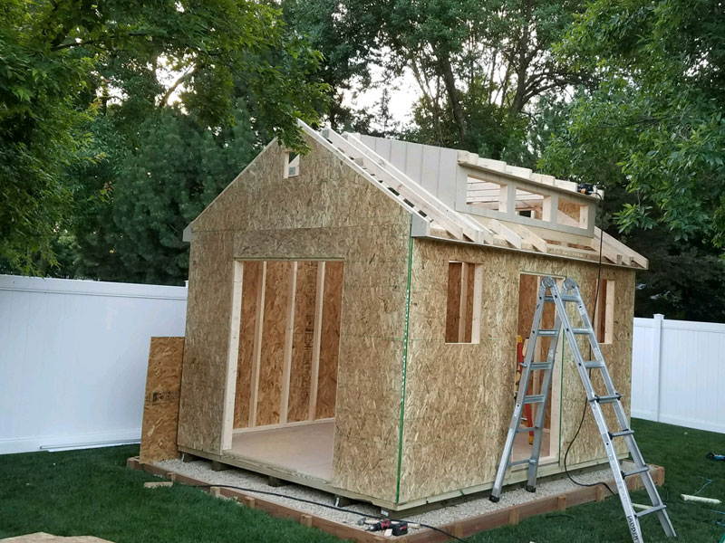 We offer built on site sheds and garage save big on shed for Garden sheds built on site