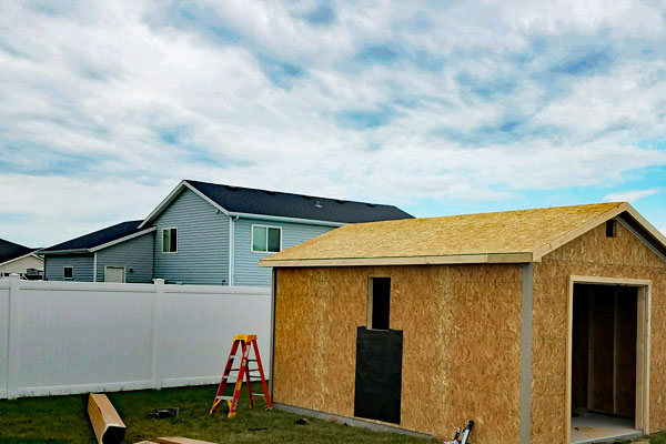 Buy onsite built sheds
