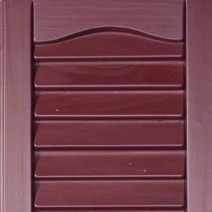 Vinyl shutters shed colors burgundy