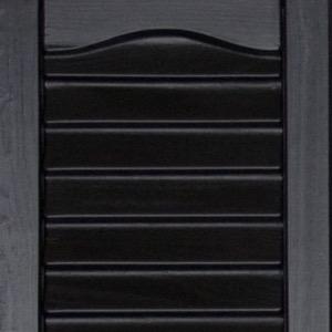 Vinyl shutters shed colors black