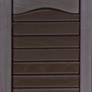 Vinyl shutters shed colors dark brown