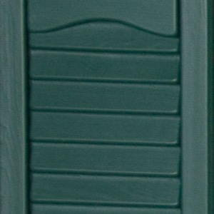 Vinyl shutters shed colors green