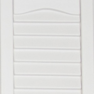 Vinyl shutters shed colors white