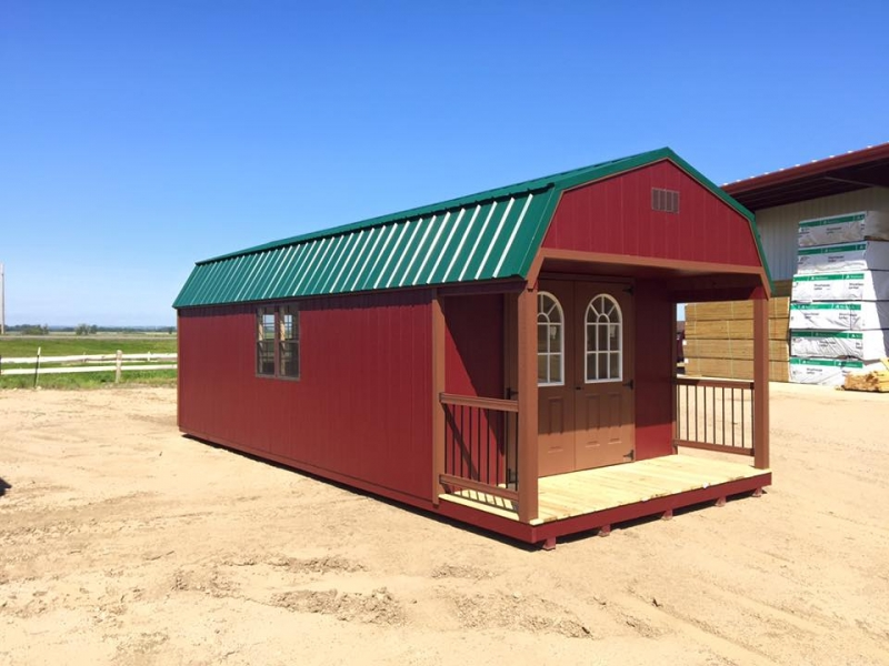 Man cave shed with porch for sale