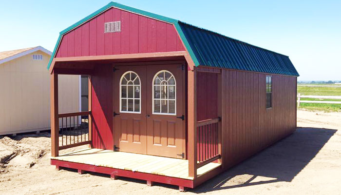 Cabin shed porches for sale
