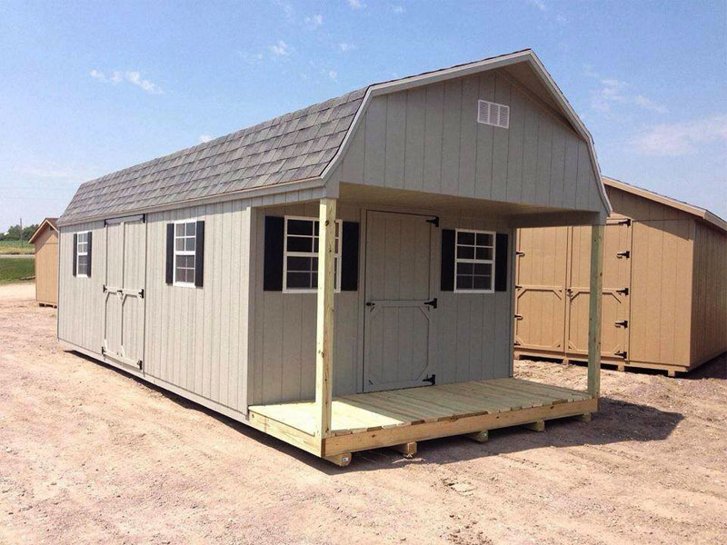 Cabin sheds with porches quality storage buildings for for Sheds with porches for sale