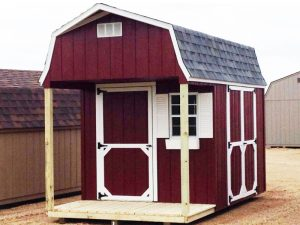 Wood cabin shed porches nd