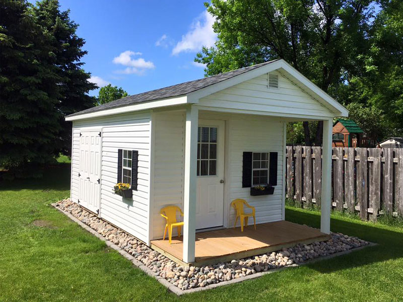 Sheds with covered porches for your property free quote for Shed with covered porch