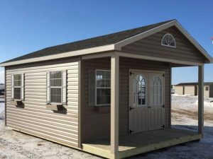 Custom sheds with porch area for sale