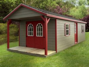 Sheds with covered porches pricing