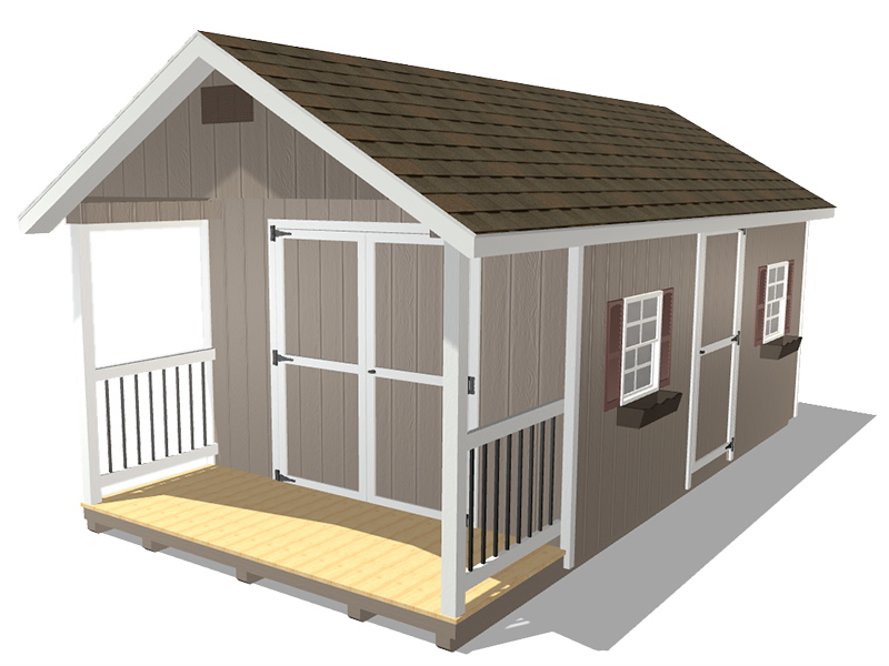 Classic shed with porch for sale in norht dakota