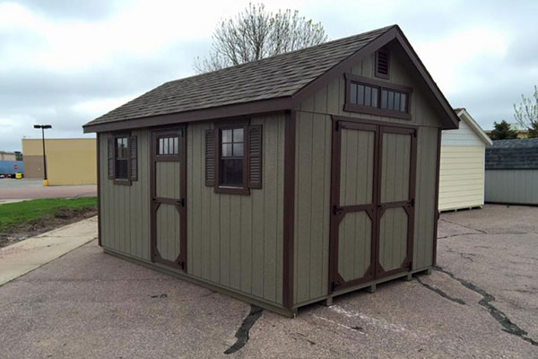Classic wood panel shed for home office