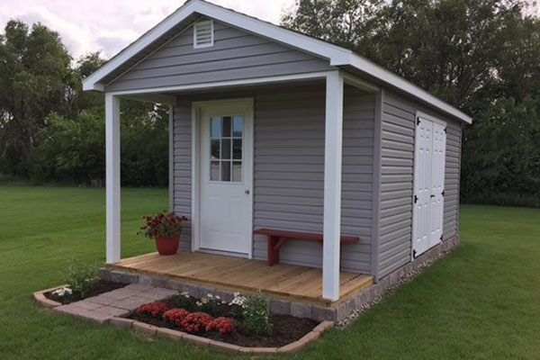 Ranch porch shed for home office