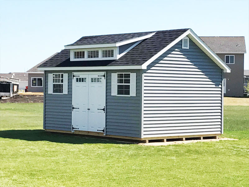 Prefabricated backyard sheds for sale vinyl sided for Classic house vinyl sale