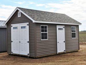 Vinyl sided backyard sheds
