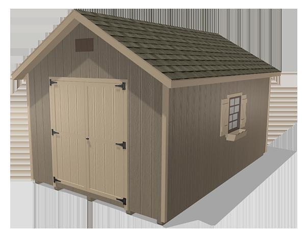 Classic sheds wood panel siding