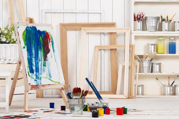 Home art studio in classic sheds