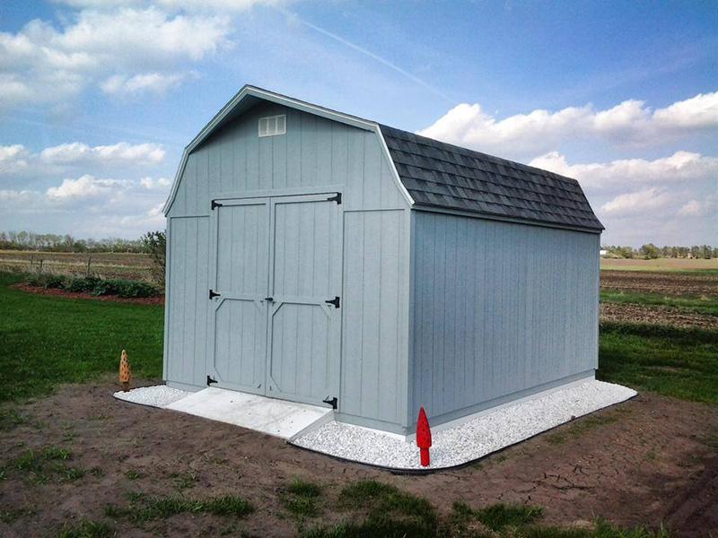 High barn shed in iowa