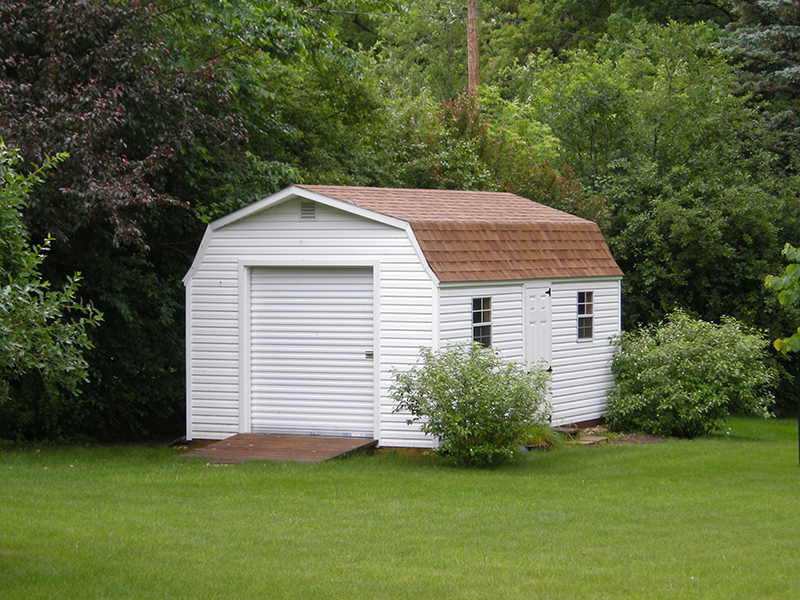 High barn storage shed