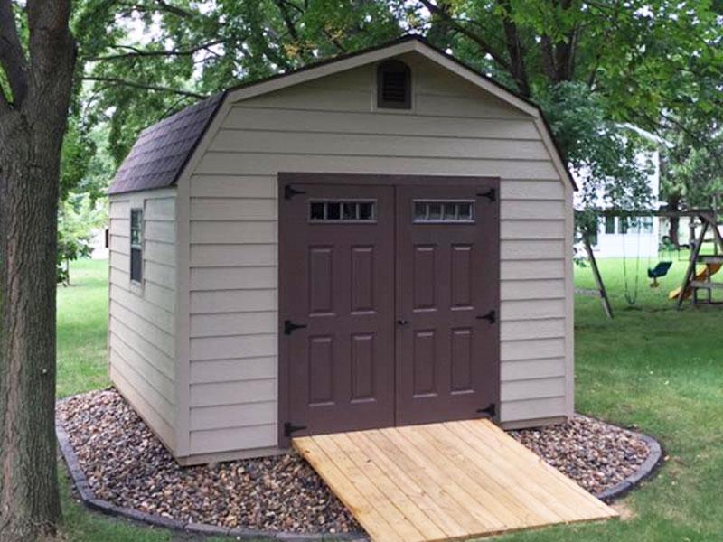 High barn wooden sheds