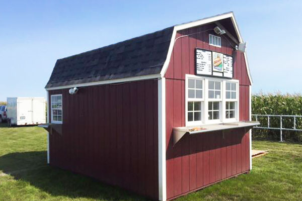 High barn sheds concession shed