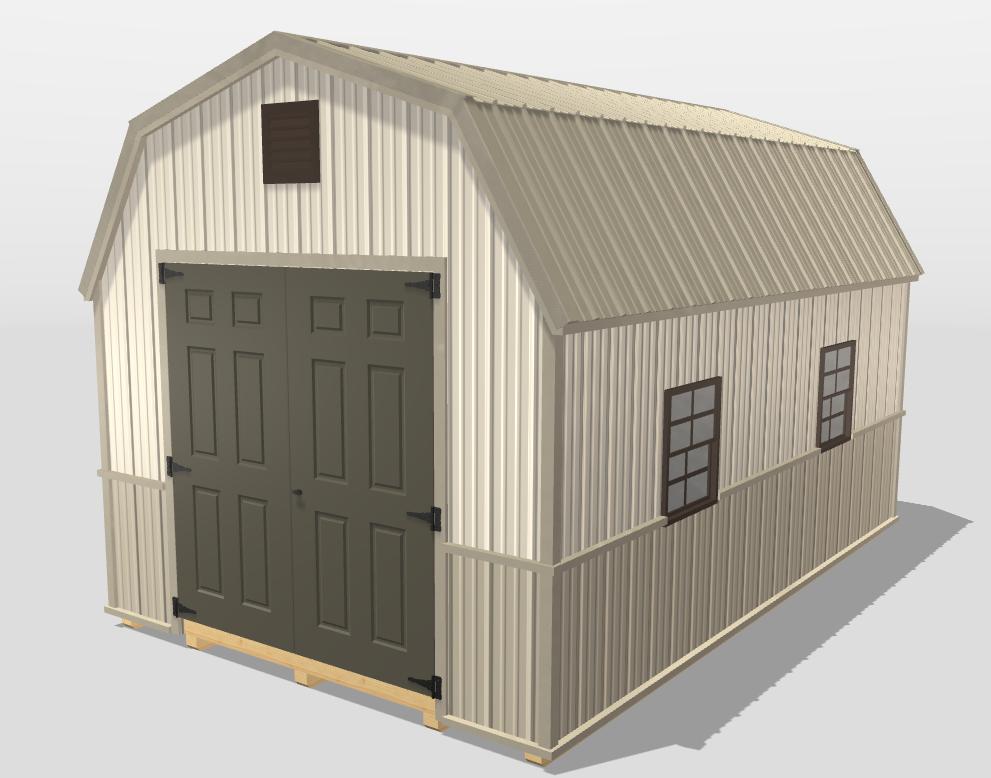 High barn sheds metal siding