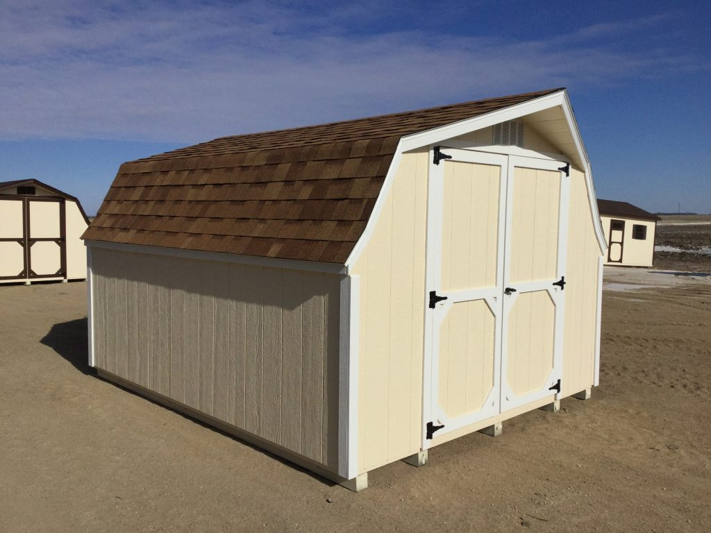Low barn wood shed for rent to own