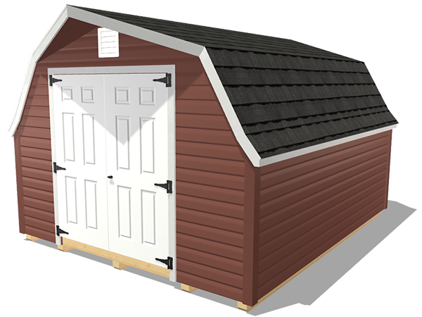 Low barn shed wood lap siding