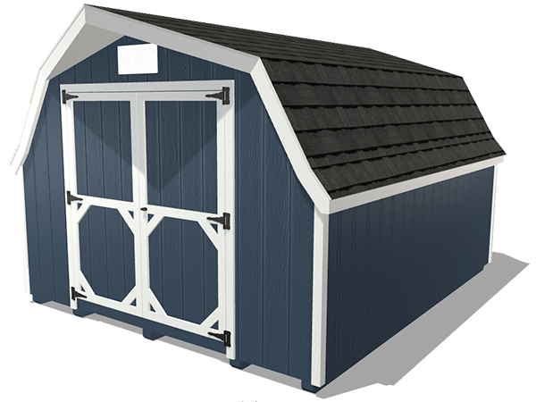 Low barn shed wood panel siding