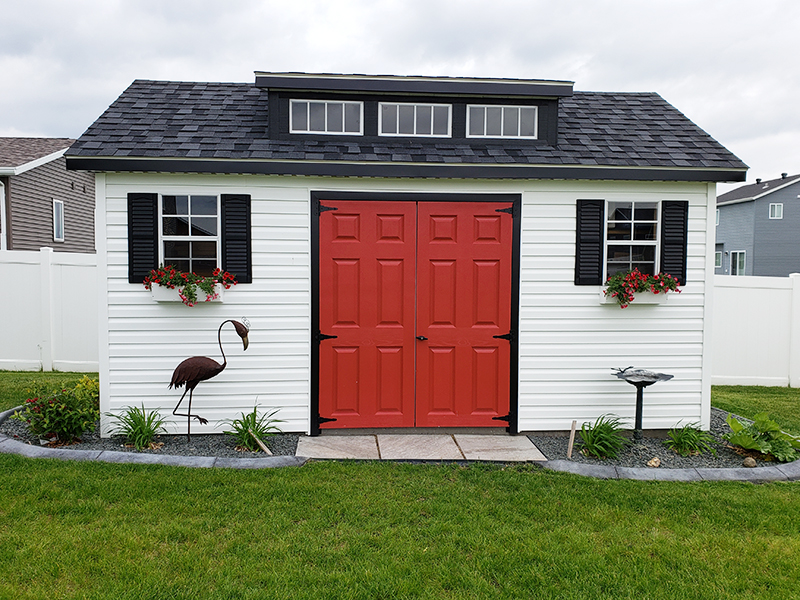 Outdoor ranch storage shed for sale