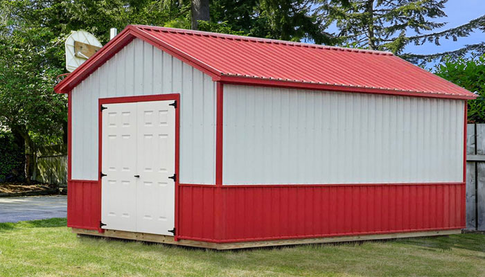 shop metal sheds metal sheds in many sizes at affordable price