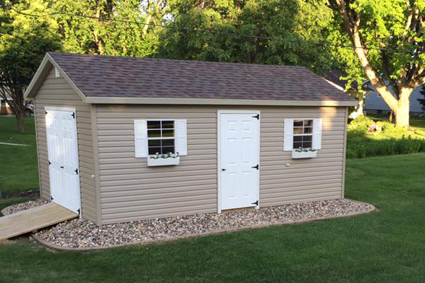 Ranch vinyl shed with essentials bundle